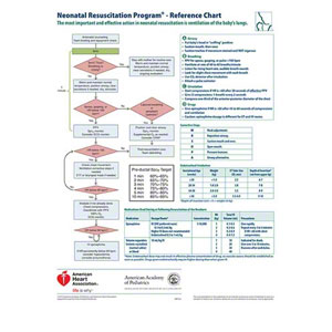 nrp flow diagram neonatal resuscitation program® wall chart - aed ...