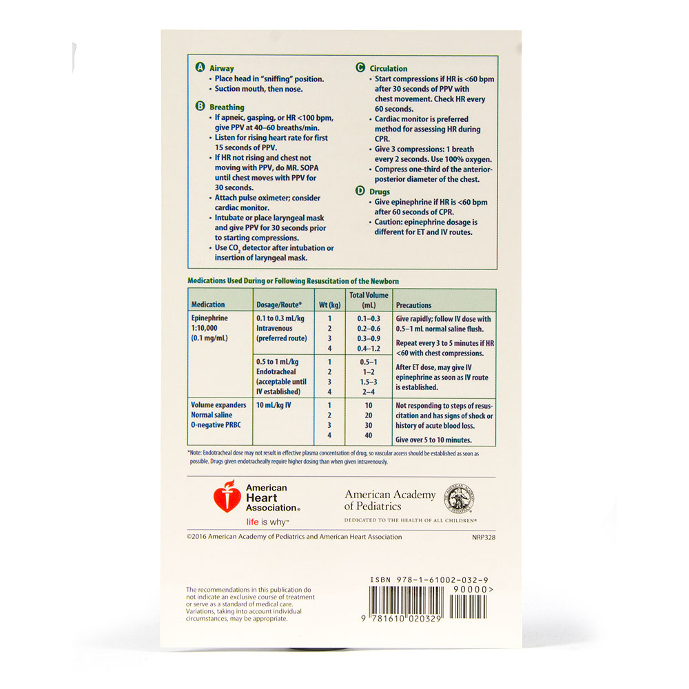Neonatal Resuscitation Program® Pocket Card