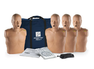 Prestan Manikin Dark Skin Adult 4-Pack with CPR Monitor
