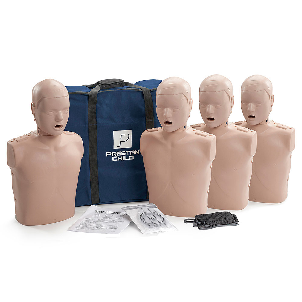 Prestan Child Medium Skin Manikin 4-Pack without CPR Monitor