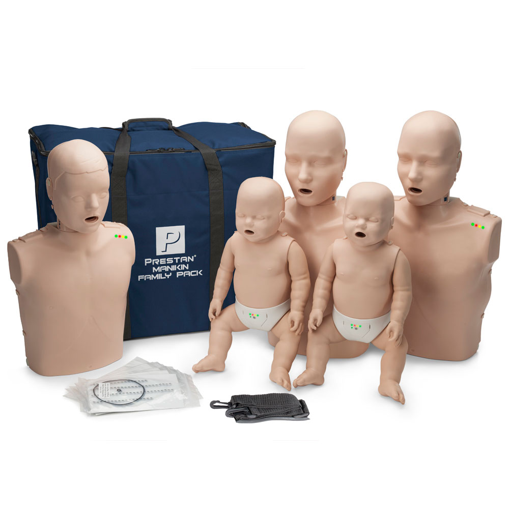 Prestan Manikin Professional Medium Skin Family Pack with CPR Monitor