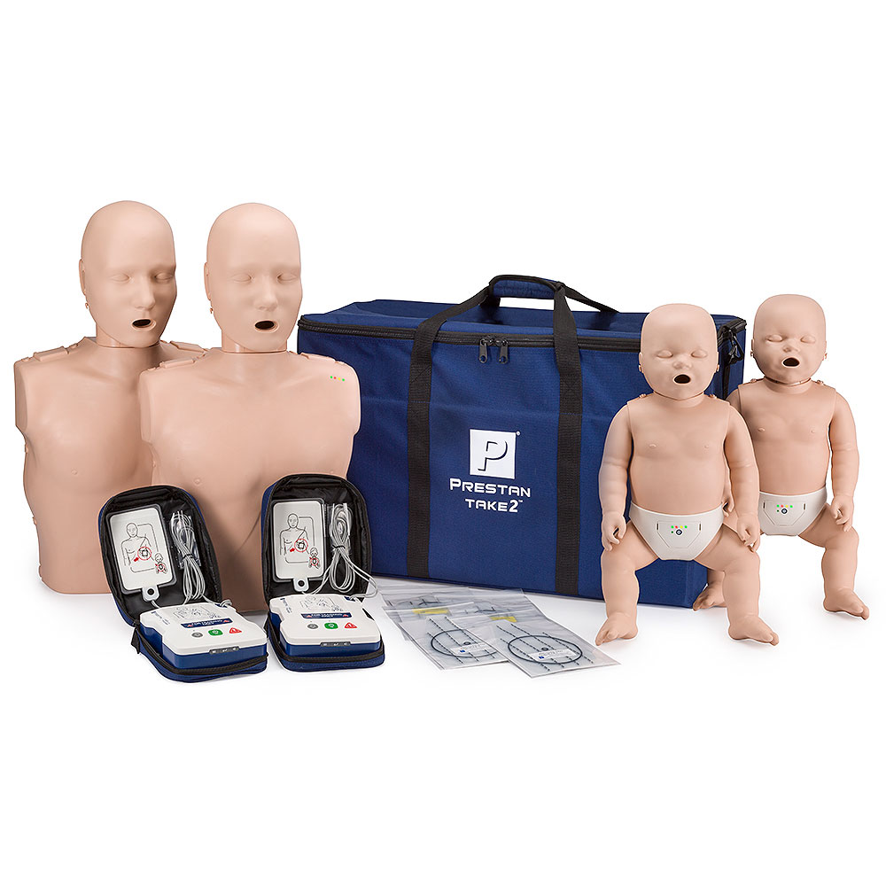 Prestan® Manikin Professional TAKE2™ Manikins  and AED Trainers Package