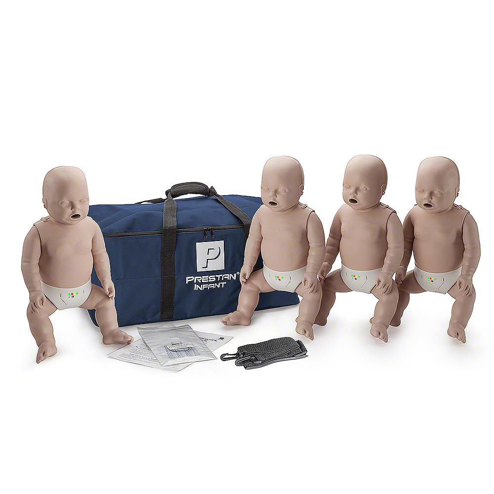 Prestan Infant Medium Skin Manikin 4-Pack with CPR Monitor