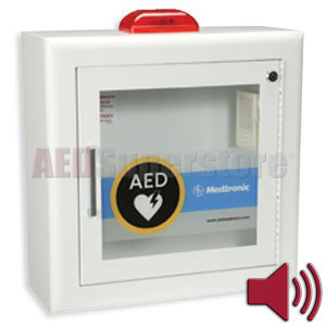 Physio-Control AED Cabinet Surface-Mount with Strobe Light and Audible Alarm