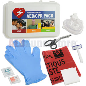 RespondER® CPR/AED Pack with RespondER® Mask in Hard Case-For Resale