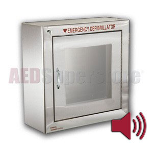 Standard Size Stainless Steel AED Cabinet with Audible Alarm
