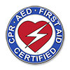 CPR/AED/First Aid Round Decal - 2.5