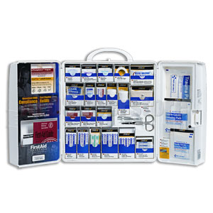 FAO Smart Compliance General Business Kit w/Meds, Large Plastic Cabinet
