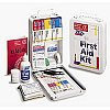 FAO Vehicle First Aid Kit, 93 Piece, Metal Case w/Gasket