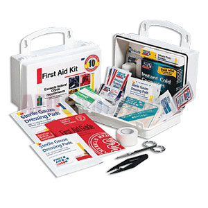 FAO 10 Person, 62 Piece Bulk Kit, Plastic Case w/Gasket