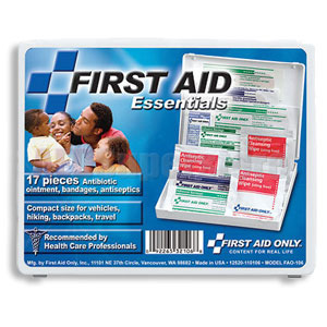 FAO All Purpose First Aid Kit - 17 Piece Travel Kit w/Mini Plastic Case