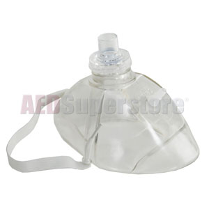 LIFE CPR Mask w/O2 Inlet Barb