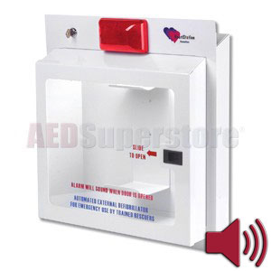 HeartStation Cabinet COMPACT Strobe and Alarm (Semi-Recessed Mount)