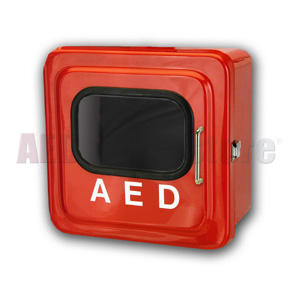 Outdoor Red AED Cabinet without Audible Alarm or Strobe Light