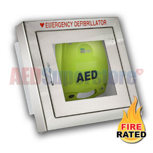 Fire Rated Standard Size Stainless Steel Aed Cabinet For
