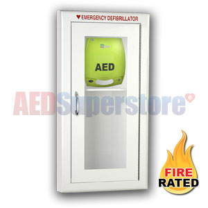 Fire Rated Tall Size AED Cabinet for ZOLL AED Plus
