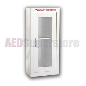 Tall AED Cabinet without Audible Alarm or Strobe Light