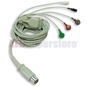 5-lead Patient Cable with integral lead wires for ZOLL E, M & R Series on
