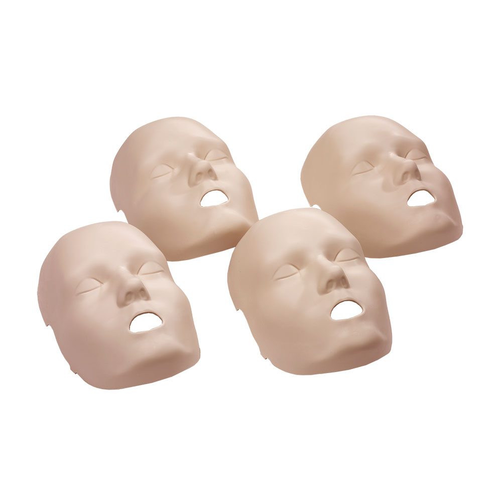 Replacement Face Skins for the Prestan Professional Child Medium Skin Manikin (4-pack)