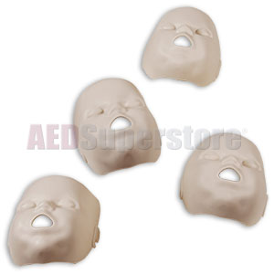 Prestan Replacement Face Skins for the Professional Infant Medium Skin Manikin (4-Pack)