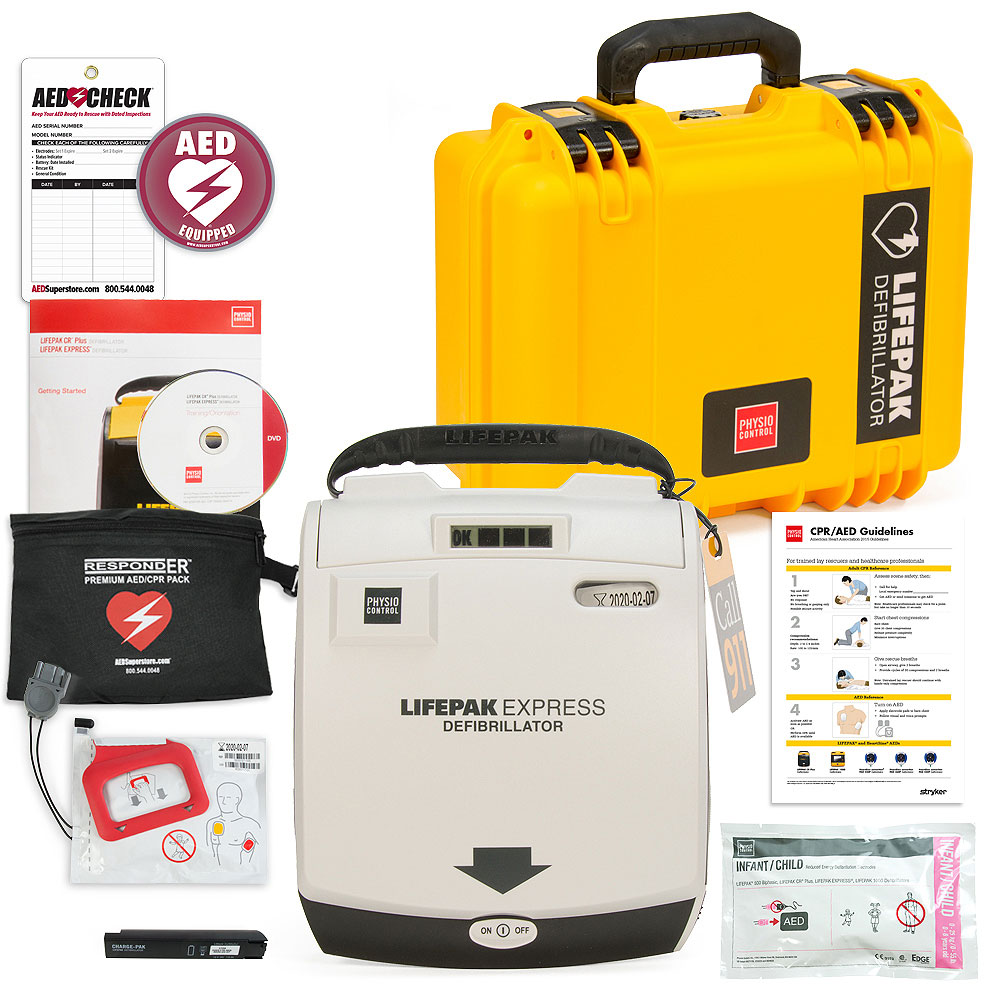 Physio-Control LIFEPAK EXPRESS AED Mobile Responder Value Package