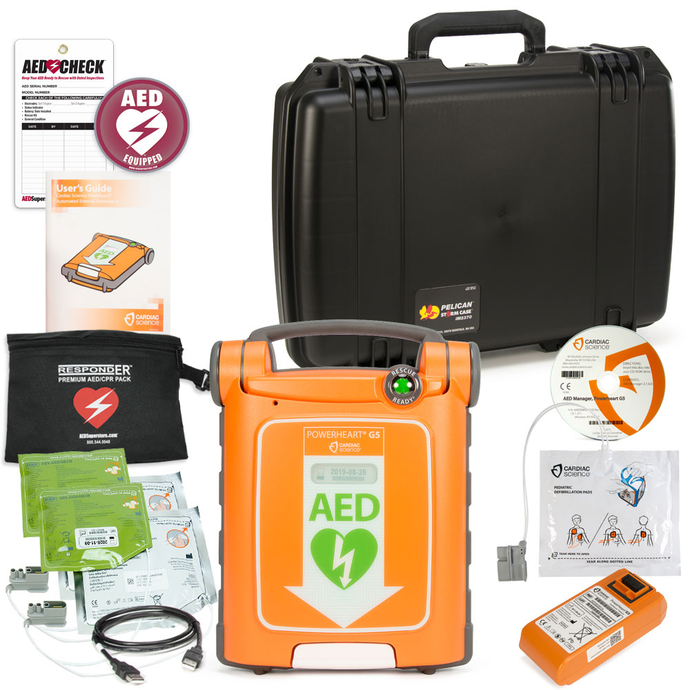 Cardiac Science Powerheart AED G5 Mobile Responder Value Package