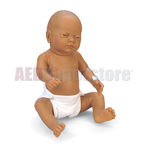 Nasco Newborn Baby Doll - Brown Baby Girl