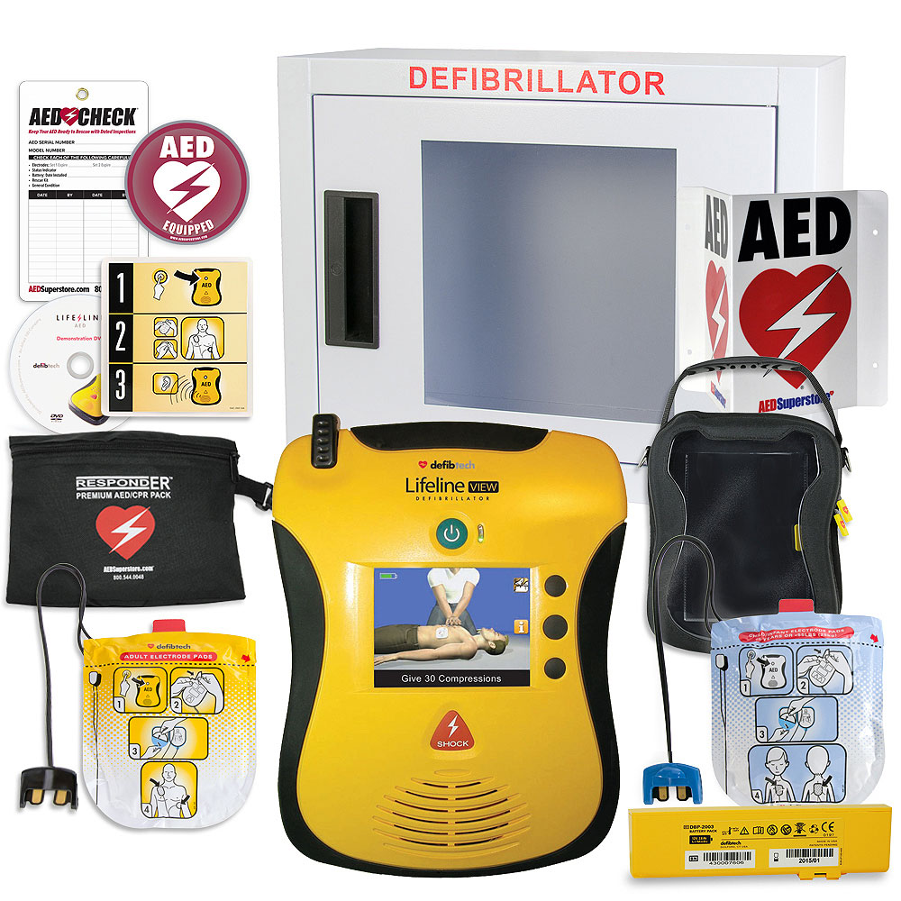 Defibtech Lifeline VIEW/ECG AED School & Community Value Package
