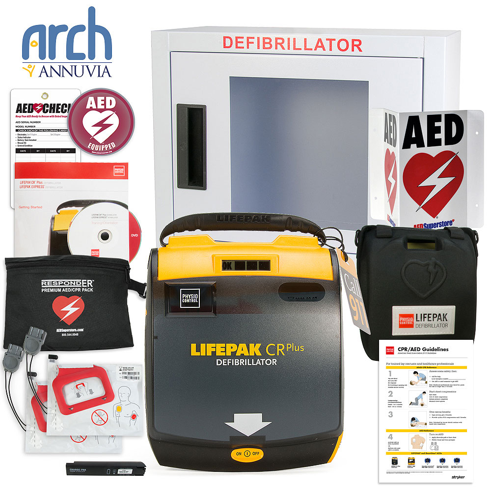 Physio-Control LIFEPAK CR Plus AED Complete Value Package