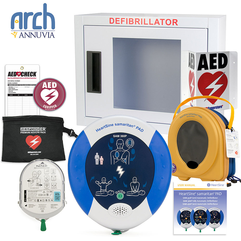 HeartSine samaritan PAD AED Complete Value Package