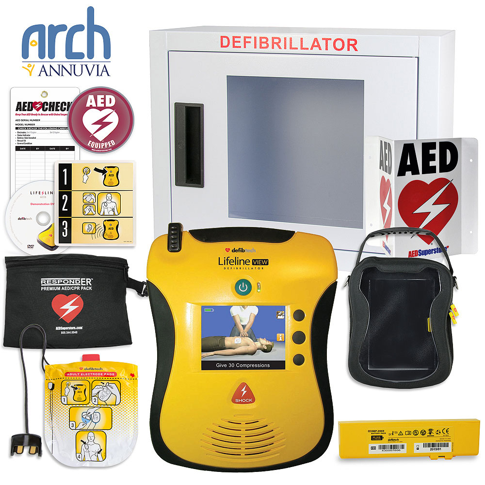 Defibtech Lifeline VIEW/ECG AED Complete Value Package