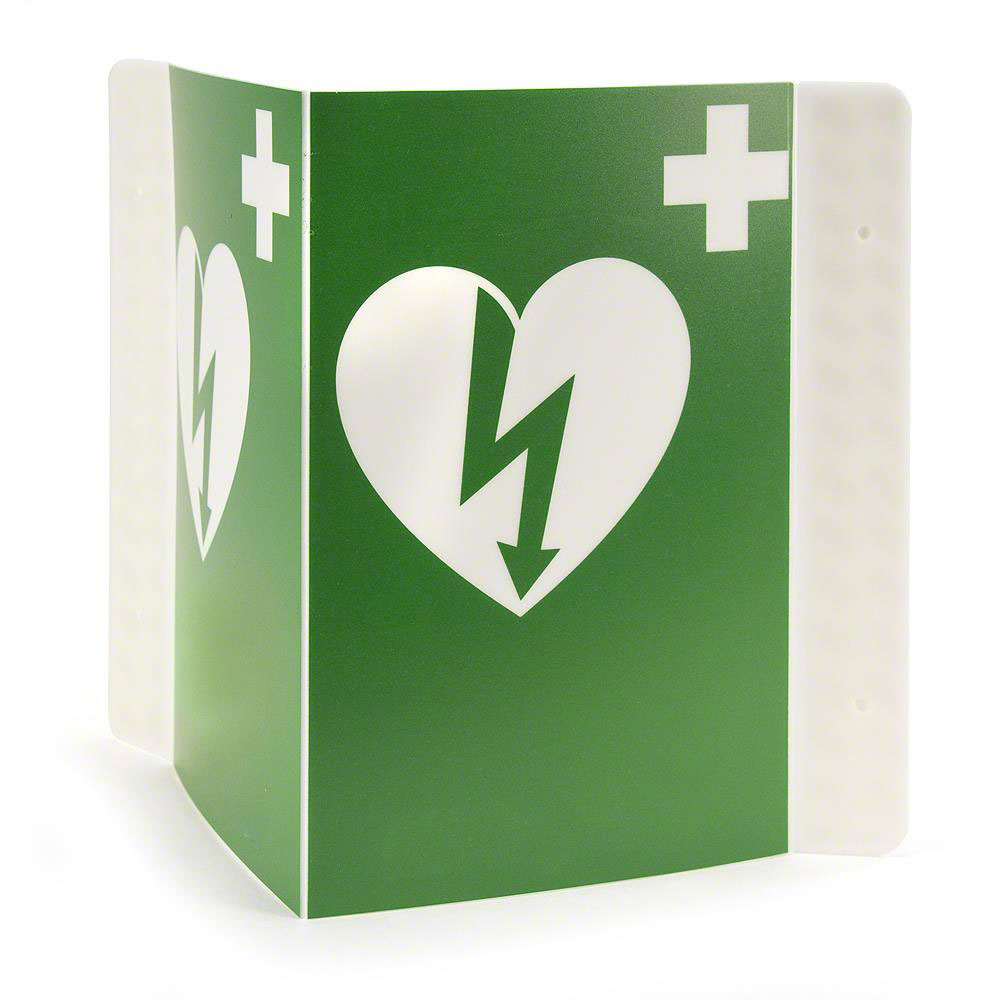 RespondER® Flexible AED Wall Sign for Resale - Green & White