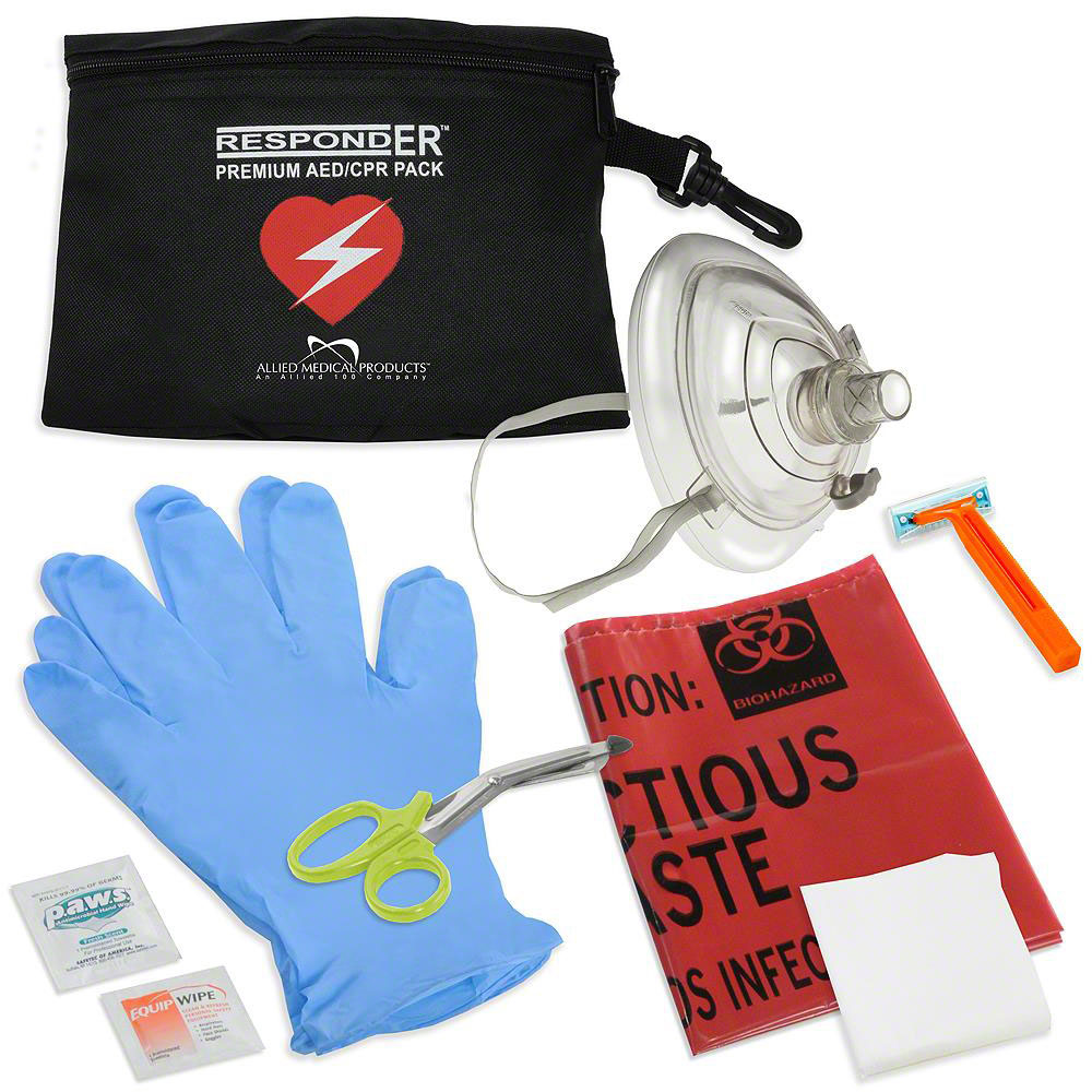 RespondER® CPR/AED Pack with RespondER® Mask in nylon pouch-For Resale