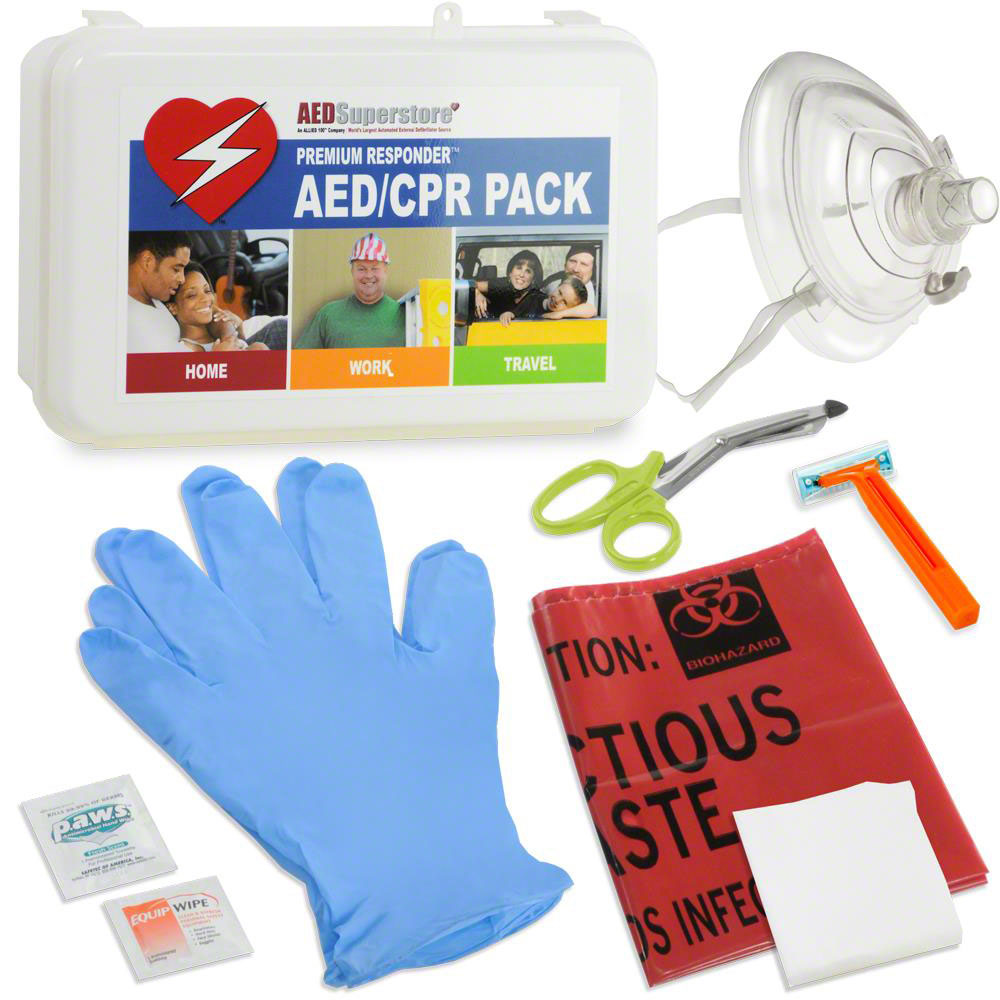 RespondER® PREMIUM CPR/AED Pack with RespondER® Mask in Hard Case