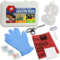 2 Rescuer RespondER® CPR/AED Pack with Masks in Hard Case-For Resale