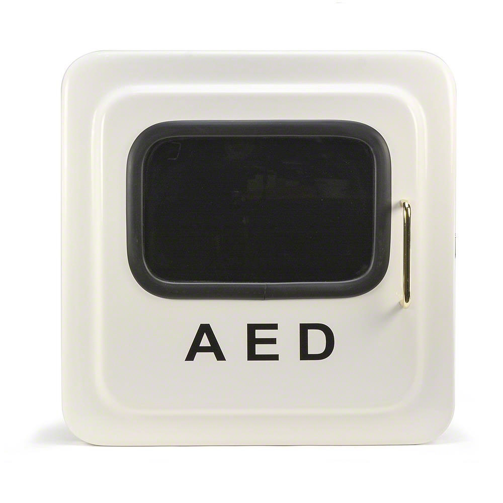 Outdoor White Aed Cabinet Without Audible Alarm Or Strobe