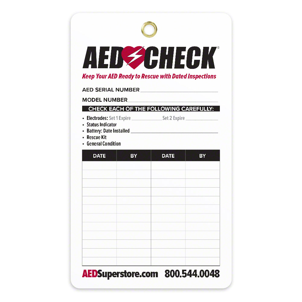 AED CHECK Tag - Now Improved!
