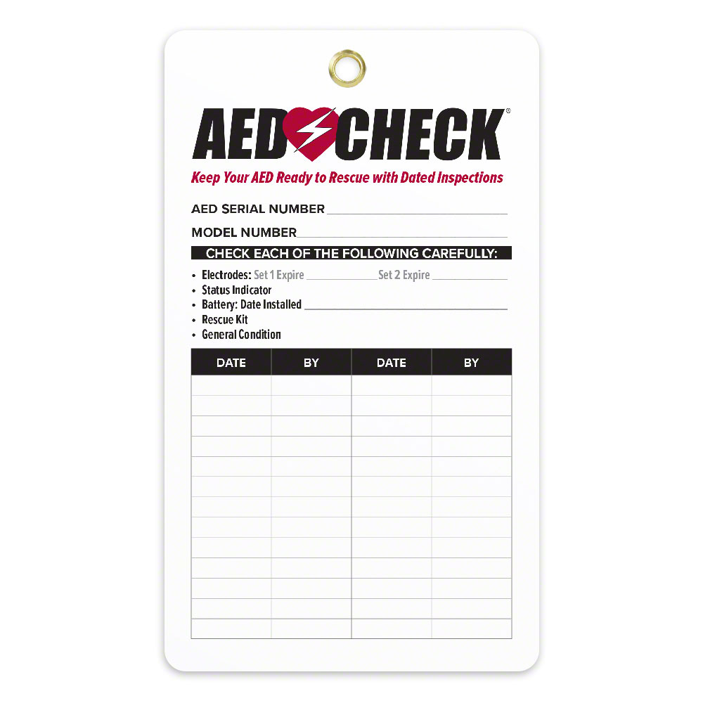 AED CHECK Tag for Resale - Now Improved!