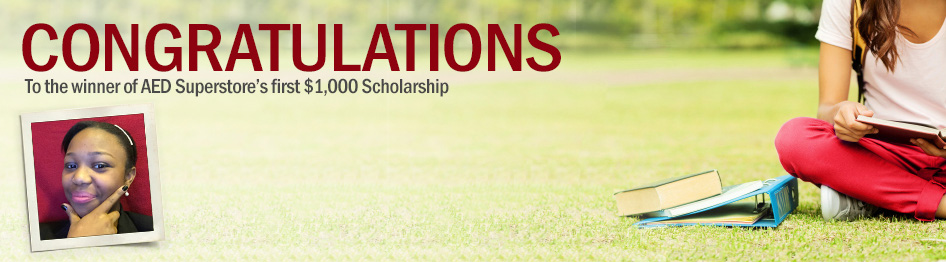 Congratulations to the winner of AED Superstore's first $1,000 Scholarship!