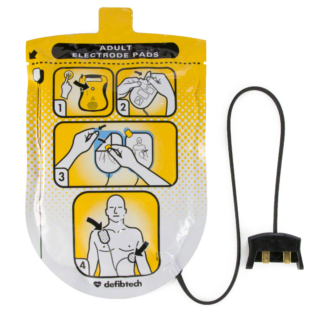 Defibtech Lifeline™ or Lifeline AUTO AED Adult Defibrillation Electrode Pads
