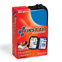 FAO Travel 104 Piece First Aid Kit, w/Clear-Pocket Soft Case