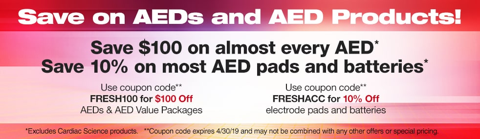 Save on AEDs and AED Products!