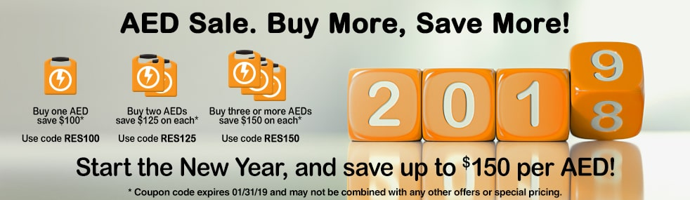 Save on multiple AEDs.
