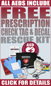 FREE Prescription on ALL AEDS