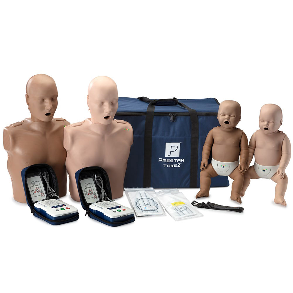 Prestan® Manikin Professional TAKE2™ Manikins Diversity Kit w/CPR Monitors and AED Trainers Package