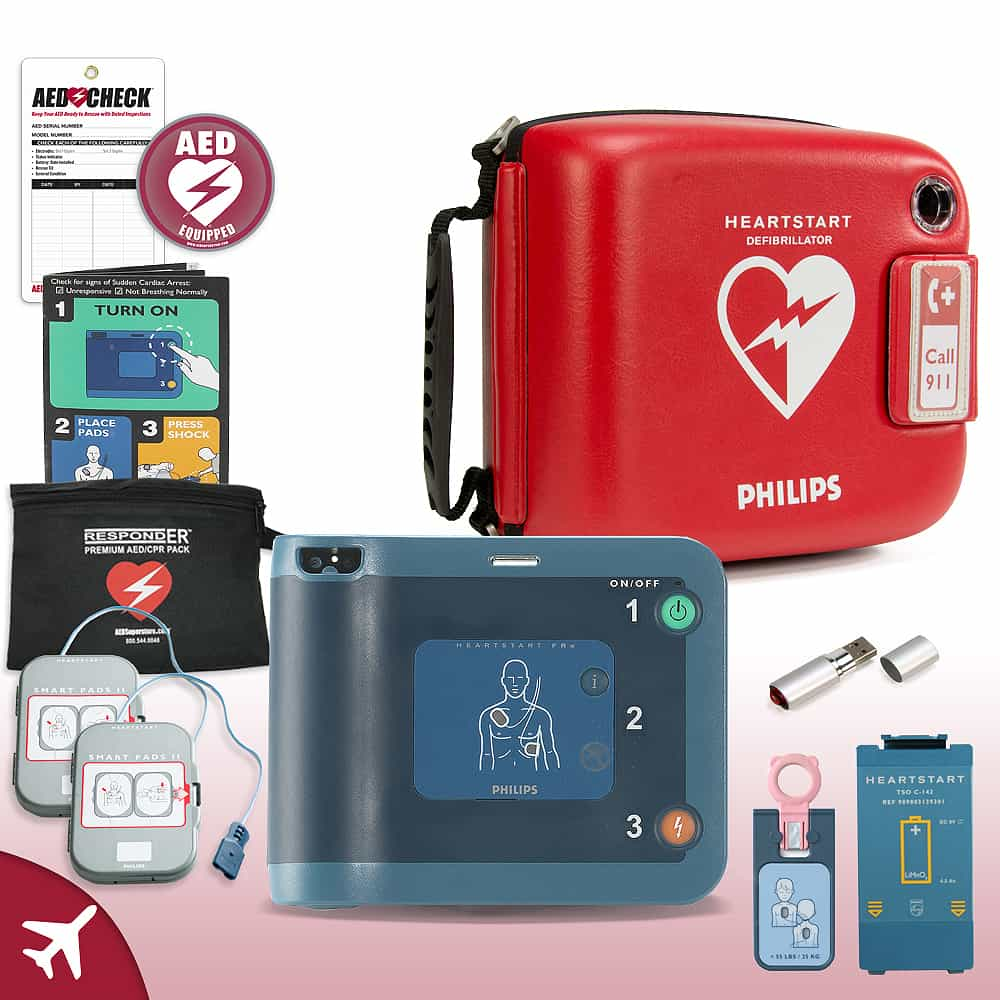 Philips HeartStart FRx AED Aviation Value Package (Includes RespondER® Premium Items)