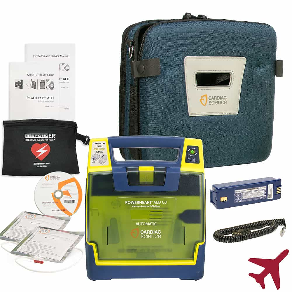 Cardiac Science Powerheart® AED G3 Plus For Aviation Automatic