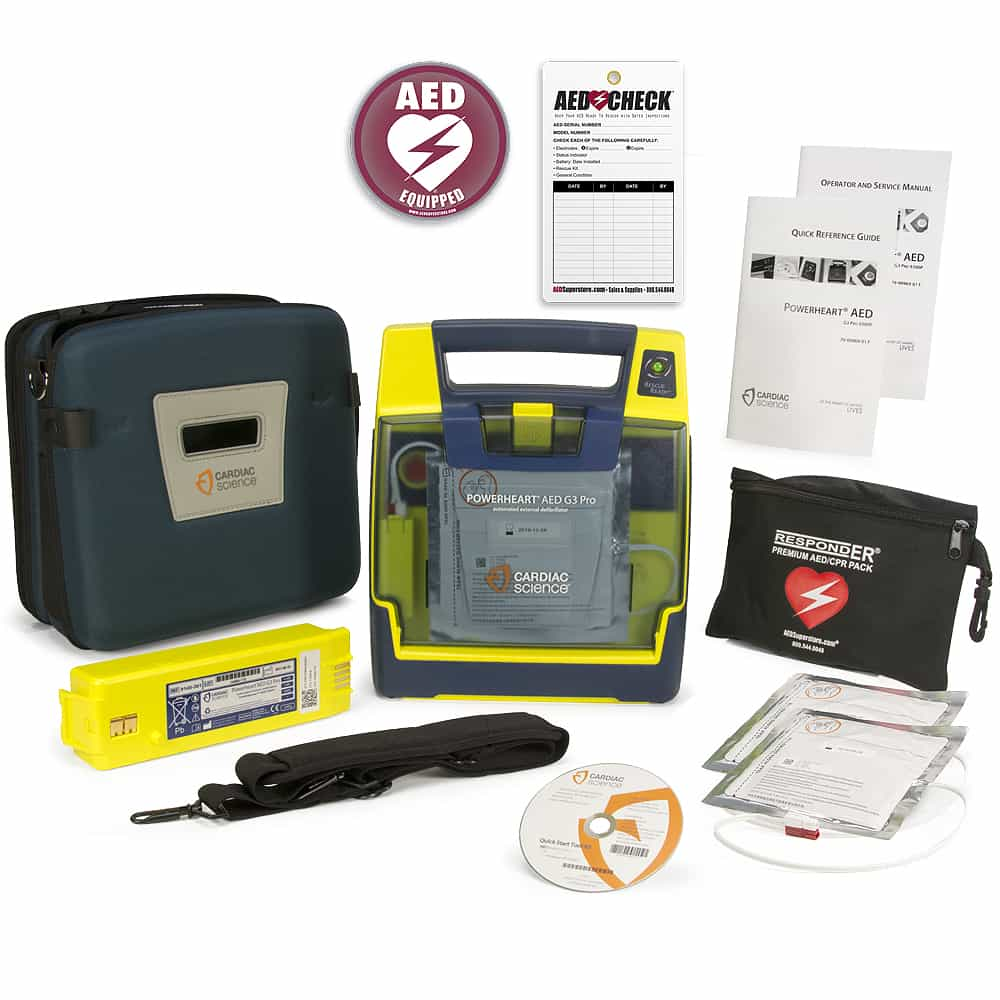 Cardiac Science Powerheart® AED G3 Pro w/Included Items