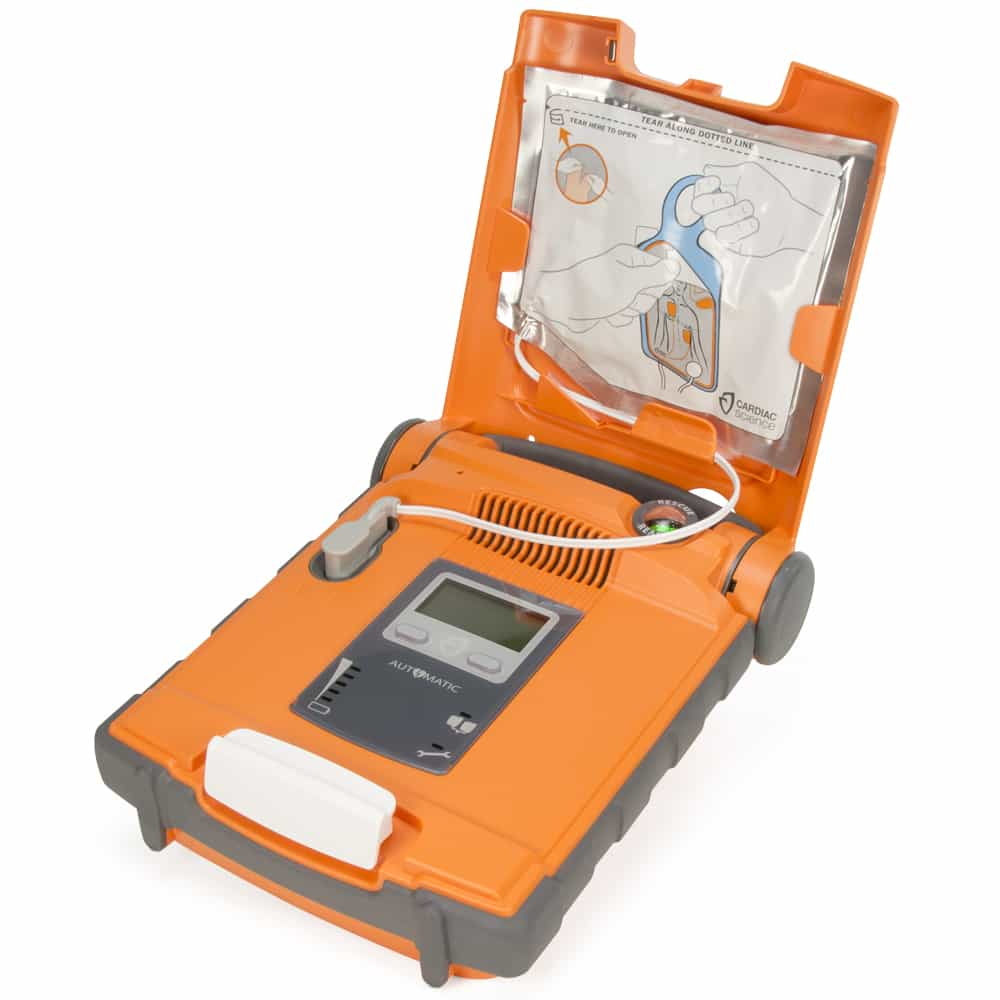 Cardiac Science Powerheart G5 AED Automatic w/Lid Open