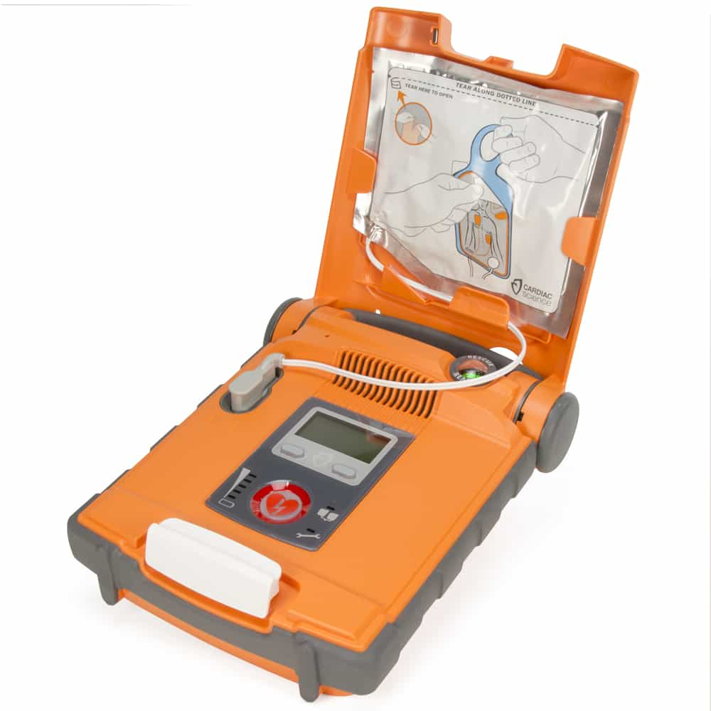 Cardiac Science Powerheart G5 AED Semi-Automatic w/Lid Open